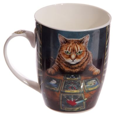 Cat Reader Bone China Mug by Lisa Parker